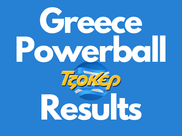 Greece Powerball Results Tuesday 19 October 2021