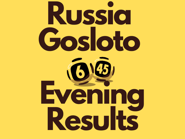 Russia Gosloto Evening Results Wednesday 20 October 2021