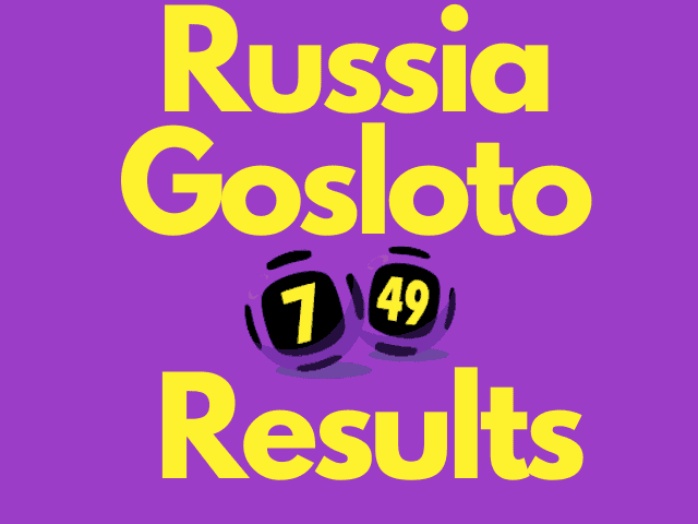 Russia Gosloto 7/49 Results Wednesday 20 October 2021