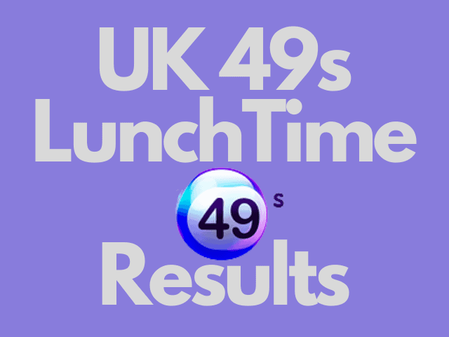 UK 49s Lunchtime Results Wednesday 20 October 2021